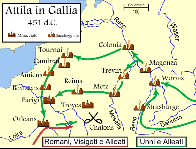 attila in gallia